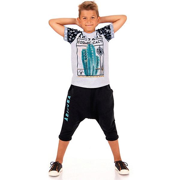 Футболка Апрель для мальчикаФутболки, поло и топы<br>Характеристики товара:<br><br>• цвет: белый<br>• состав ткани: 70% хлопок, 30% полиэстер<br>• сезон: лето<br>• короткие рукава<br>• страна бренда: Россия<br><br>Свободная детская футболка сшита из легкого дышащего материала, её швы тщательно обработаны. Принтованная футболка для детей от российского бренда Апрель - удобная, модная и практичная вещь. Эта футболка для ребенка декорирована эффектным принтом. <br><br>Футболку Апрель можно купить в нашем интернет-магазине.