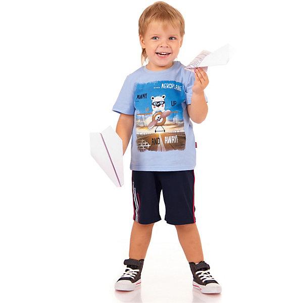 Джемпер АпрельФутболки, поло и топы<br>Характеристики товара:<br><br>• цвет: голубой<br>• состав ткани: 100% хлопок<br>• сезон: лето<br>• короткие рукава<br>• с рисунком<br>• страна бренда: Россия<br><br>Мягкая детская футболка сшита из легкого дышащего материала, её швы тщательно обработаны. Принтованная футболка для детей от российского бренда Апрель - удобная, модная и практичная вещь. Эта футболка для ребенка декорирована эффектным принтом. <br><br>Футболку Апрель можно купить в нашем интернет-магазине.<br>Ширина мм: 190; Глубина мм: 74; Высота мм: 229; Вес г: 236; Цвет: голубой; Возраст от месяцев: 12; Возраст до месяцев: 18; Пол: Унисекс; Возраст: Детский; Размер: 86,116,110,104,98,92; SKU: 7799531;