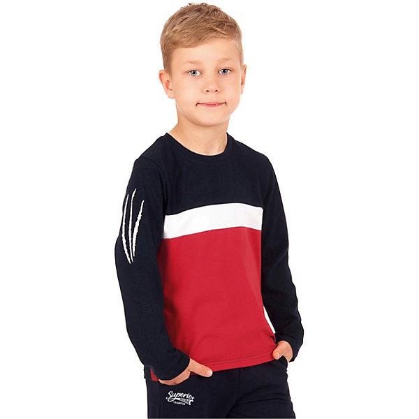 Апрель Футболка с длинным рукавом Апрель для мальчика лонгслив для мальчика апрель день знаний 499522 черный рост 128 размер 64