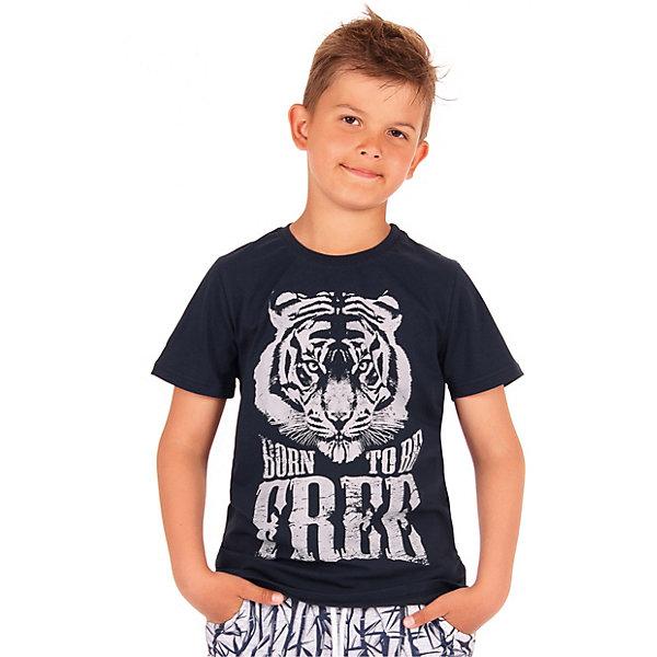 Джемпер АпрельФутболки, поло и топы<br>Характеристики товара:<br><br>• цвет: синий<br>• состав ткани: 92% хлопок, 8% лайкра<br>• сезон: лето<br>• короткие рукава<br>• с рисунком<br>• страна бренда: Россия<br><br>Синяя футболка для детей от российского бренда Апрель отличается высоким качеством пошива. Такая детская футболка сшита из легкого дышащего материала, её швы тщательно обработаны. Эта футболка для ребенка декорирована эффектным принтом. <br><br>Футболку Апрель можно купить в нашем интернет-магазине.<br>Ширина мм: 190; Глубина мм: 74; Высота мм: 229; Вес г: 236; Цвет: темно-синий; Возраст от месяцев: 60; Возраст до месяцев: 72; Пол: Унисекс; Возраст: Детский; Размер: 116,146,140,134,128,122; SKU: 7799985;