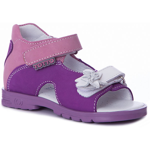 Тотто Сандалии Тотто для девочки туфли для девочки тотто цвет светло лиловый 2731 кп размер 31