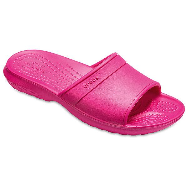 crocs Шлепанцы CROCS для девочки шлепанцы для девочки crocs classic slide k цвет розовый 204981 6x0 размер c12 29 30