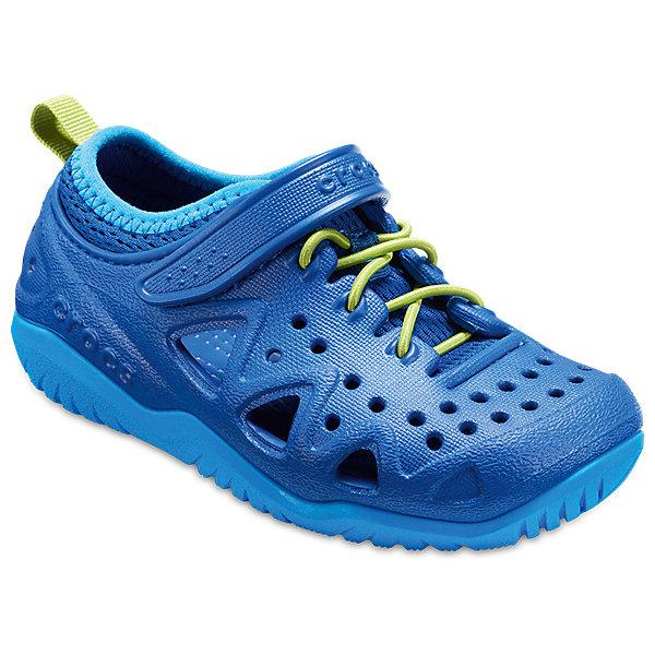 Кроссовки  CROCS для мальчикаКроссовки<br>Характеристики товара:<br><br>• модель: Swiftwater Play Shoe K<br>• цвет: синий;<br>• состав: 90,3% полимер Croslite™, 9,7% текстиль (полиэстер);<br>• сезон: лето;<br>• температурный режим: от +20;<br>• модель: спортивный стиль;<br>• эластичная шнуровка;<br>• ремешок на липучке;<br>• петля на заднике для удобства надевания;<br>• вентилируемые;<br>• рельефный рисунок подошвы;<br>• анатомические;<br>• страна бренда: США<br><br>Яркие кроссовки от Crocs очаруют вашего ребенка с первого взгляда! Модель, выполненная из полимера Croslite. Материал Croslite™ - это патентованная пена с закрытыми ячейками, обладающая удивительными свойствами. Она присутствует в каждой паре обуви Crocs™, придавая ей характерную упругость, неповторимый комфорт и ощущение свободы.Рельефная поверхность верхней части подошвы комфортна при движении. <br><br>Кроссовки удобно сидят и надежно фиксируются на ноге. Выполнены в ярких розовых тонах, лыбимыми всеми девочками. Отличный вариант для теплой погоды!<br><br>Кроссовки CROCS  (Крокс) можно купить в нашем интернет-магазине.<br>Ширина мм: 250; Глубина мм: 150; Высота мм: 150; Вес г: 250; Цвет: синий; Возраст от месяцев: 120; Возраст до месяцев: 132; Пол: Мужской; Возраст: Детский; Размер: 34/35,31/32,30/31,29/30,28/29,27/28,26,25,24,23,33/34; SKU: 7841416;