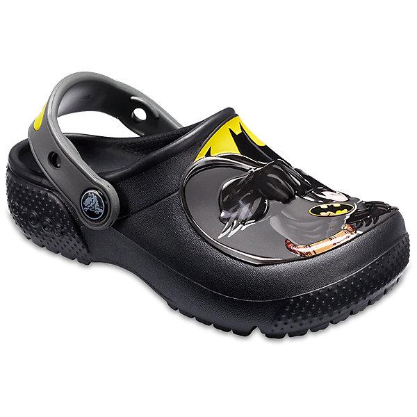 Сабо Batman CROCS для мальчикаПляжная обувь<br>Характеристики товара:<br><br>• цвет: черный;<br>• состав: 100% полимер Croslite™;<br>• сезон: лето;<br>• температурный режим: от +20;<br>• модель: закрытые;<br>• дизайнерский рисунок;<br>• застежка: пяточный ремешок;<br>• непромокаемые;<br>• вентилируемые;<br>• рельефный рисунок подошвы;<br>• анатомические;<br>• светоотражающий логотип в области пятки;<br>• страна бренда: США<br><br>Сабо для мальчика Batman от Crocs  придутся по душе вашему ребенку, ведь они выполнены в яркой комбинации цветов с изображением маски Человека-Паука. Такие сабо не оставят равнодушным ни одного юного модника - любителя комиксов про супер-героев. <br><br>Модель полностью выполнена из полимерного материала. Съемный пяточный ремешок, оформленный названием бренда, предназначен для фиксации стопы при ходьбе. Рифление на подошве гарантирует идеальное сцепление с любой поверхностью. <br><br>Благодаря материалу Croslite обувь невероятно легкая, мягкая и удобная. Материал Croslite - бактериостатичен, препятствует появлению неприятных запахов и легок в уходе: быстро сохнет и не оставляет следов на любых поверхностях. <br><br>Сабо для мальчика Batman от CROCS (Крокс), красные, можно купить в нашем интернет-магазине.<br>Ширина мм: 225; Глубина мм: 139; Высота мм: 112; Вес г: 290; Цвет: черный; Возраст от месяцев: 12; Возраст до месяцев: 15; Пол: Мужской; Возраст: Детский; Размер: 29/30,28/29,27/28,26,25,24,23,22,21,34/35,33/34,31/32,30/31; SKU: 7841710;