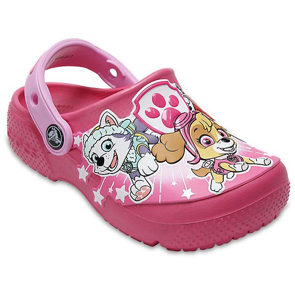 Сабо Paw Patrol CROCS для девочкиПляжная обувь<br>Характеристики товара:<br><br>• цвет: розовый;<br>• состав: 100% полимер Croslite™;<br>• сезон: лето;<br>• температурный режим: от +20;<br>• модель: закрытые;<br>• яркий рисунок;<br>• застежка: пяточный ремешок;<br>• непромокаемые;<br>• вентилируемые;<br>• рельефный рисунок подошвы;<br>• анатомические;<br>• светоотражающий логотип в области пятки;<br>• страна бренда: США<br><br>Сабо Crocs  придутся по душе вашему ребенку, ведь они выполнены в яркой комбинации цветов с изображением веселых героев мультфильма Paw Patrol. Такие сабо не оставят никого равнодушным. <br><br>Модель полностью выполнена из полимерного материала. Съемный пяточный ремешок, оформленный названием бренда, предназначен для фиксации стопы при ходьбе. Рифление на подошве гарантирует идеальное сцепление с любой поверхностью. <br><br>Благодаря материалу Croslite обувь невероятно легкая, мягкая и удобная. Материал Croslite™ - это патентованная пена с закрытыми ячейками, обладающая удивительными свойствами. Она присутствует в каждой паре обуви Crocs™, придавая ей характерную упругость, неповторимый комфорт и ощущение свободы.<br><br>Сабо Paw Patrol CROCS  (Крокс) можно купить в нашем интернет-магазине.<br>Ширина мм: 225; Глубина мм: 139; Высота мм: 112; Вес г: 290; Цвет: розовый; Возраст от месяцев: 21; Возраст до месяцев: 24; Пол: Женский; Возраст: Детский; Размер: 24,25,23,22,21,30/31,29/30,28/29,27/28,26; SKU: 7841937;