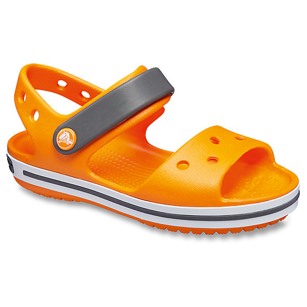 Сандалии  CROCSПляжная обувь<br>Характеристики товара:<br><br>• модель: Crocband Sandal K<br>• цвет: оранжевый;<br>• состав: 100% полимер Croslite™;<br>• сезон: лето;<br>• температурный режим: от +20;<br>• модель: открытые;<br>• застежка: ремешок на липучке;<br>• непромокаемые;<br>• рельефный рисунок подошвы;<br>• анатомические;<br>• светоотражающий логотип в области пятки;<br>• страна бренда: США<br><br>Прелестные сандалии от Crocs очаруют вашего ребенка с первого взгляда! Модель выполнена из полимера Croslite и дополнена по периметру подошвы контрастной полоской. Такие сандалии принесут комфорт и радость вашему ребенку.<br><br>Благодаря материалу Croslite обувь невероятно легкая, мягкая и удобная. Материал Croslite - бактериостатичен, препятствует появлению неприятных запахов и легок в уходе: быстро сохнет и не оставляет следов на любых поверхностях. <br><br>Верх модели оформлен отверстиями, которые можно использовать для украшения джибитсами. Под воздействием температуры тела обувь принимает форму стопы. Ремешок с застежкой-липучкой, оформленный фирменным логотипом, обеспечивает надежную фиксацию модели на ноге. Рельефная поверхность верхней части подошвы комфортна при движении. Рифленое основание подошвы гарантирует идеальное сцепление с любой поверхностью. <br><br>Открытые сандалии CROCS  (Крокс), оранжевые, можно купить в нашем интернет-магазине.<br>Ширина мм: 219; Глубина мм: 154; Высота мм: 121; Вес г: 343; Цвет: оранжевый; Возраст от месяцев: 96; Возраст до месяцев: 108; Пол: Унисекс; Возраст: Детский; Размер: 28/29,25,27/28,24,26,23,22,21,33/34,30/31,34/35,31/32,29/30; SKU: 7892289;