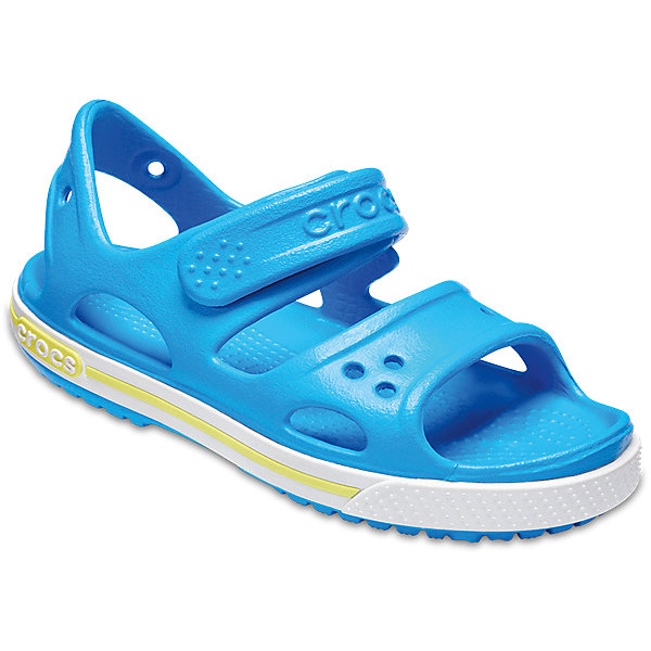 Сандалии  CROCS для мальчикаПляжная обувь<br>Характеристики товара:<br><br>• модель: Crocband II Sandal PS<br>• цвет: голубой;<br>• состав: 100% полимер Croslite™;<br>• сезон: лето;<br>• температурный режим: от +20;<br>• модель: открытые;<br>• застежка: ремешок на липучке;<br>• непромокаемые;<br>• рельефный рисунок подошвы;<br>• анатомические;<br>• светоотражающий логотип в области пятки;<br>• страна бренда: США<br>• Длина подошвы: 18 см.<br><br>Прелестные сандалии от Crocs очаруют вашего ребенка с первого взгляда! Модель выполнена из полимера Croslite и дополнена по периметру подошвы контрастной полоской. Такие сандалии принесут комфорт и радость вашему ребенку.<br><br>Благодаря материалу Croslite обувь невероятно легкая, мягкая и удобная. Материал Croslite™ - это патентованная пена с закрытыми ячейками, обладающая удивительными свойствами. Она присутствует в каждой паре обуви Crocs™, придавая ей характерную упругость, неповторимый комфорт и ощущение свободы.<br><br>Верх модели оформлен отверстиями, которые можно использовать для украшения джибитсами. Под воздействием температуры тела обувь принимает форму стопы. Ремешок с застежкой-липучкой, оформленный фирменным логотипом, обеспечивает надежную фиксацию модели на ноге. Рельефная поверхность верхней части подошвы комфортна при движении. Рифленое основание подошвы гарантирует идеальное сцепление с любой поверхностью.<br><br>Открытые сандалии CROCS (Крокс) можно купить в нашем интернет-магазине.<br>Ширина мм: 219; Глубина мм: 154; Высота мм: 121; Вес г: 343; Цвет: голубой; Возраст от месяцев: 120; Возраст до месяцев: 132; Пол: Мужской; Возраст: Детский; Размер: 34/35,29/30,28/29,27/28,26,25,24,23,22,21,33/34,31/32,30/31; SKU: 7892331;