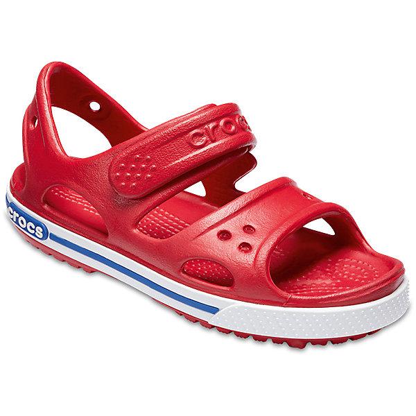 Сандалии  CROCSПляжная обувь<br>Характеристики товара:<br><br>• модель: Crocband II Sandal PS<br>• цвет: красный;<br>• состав: 100% полимер Croslite™;<br>• сезон: лето;<br>• температурный режим: от +20;<br>• модель: открытые;<br>• застежка: ремешок на липучке;<br>• непромокаемые;<br>• рельефный рисунок подошвы;<br>• анатомические;<br>• светоотражающий логотип в области пятки;<br>• страна бренда: США<br><br>Прелестные сандалии от Crocs очаруют вашего ребенка с первого взгляда! Модель выполнена из полимера Croslite и дополнена по периметру подошвы контрастной полоской. Такие сандалии принесут комфорт и радость вашему ребенку.<br><br>Благодаря материалу Croslite обувь невероятно легкая, мягкая и удобная. Материал Croslite - бактериостатичен, препятствует появлению неприятных запахов и легок в уходе: быстро сохнет и не оставляет следов на любых поверхностях. <br><br>Верх модели оформлен отверстиями, которые можно использовать для украшения джибитсами. Под воздействием температуры тела обувь принимает форму стопы. Ремешок с застежкой-липучкой, оформленный фирменным логотипом, обеспечивает надежную фиксацию модели на ноге. Рельефная поверхность верхней части подошвы комфортна при движении. Рифленое основание подошвы гарантирует идеальное сцепление с любой поверхностью. <br><br>Открытые сандалии CROCS  (Крокс), красные, можно купить в нашем интернет-магазине.<br>Ширина мм: 219; Глубина мм: 154; Высота мм: 121; Вес г: 343; Цвет: красный; Возраст от месяцев: 12; Возраст до месяцев: 15; Пол: Унисекс; Возраст: Детский; Размер: 21,34/35,33/34,31/32,30/31,29/30,28/29,27/28,26,25,24,23,22; SKU: 7892359;