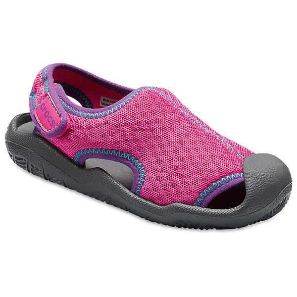 crocs Сандалии CROCS для девочки шлепанцы для девочки crocs classic slide k цвет розовый 204981 6x0 размер c12 29 30