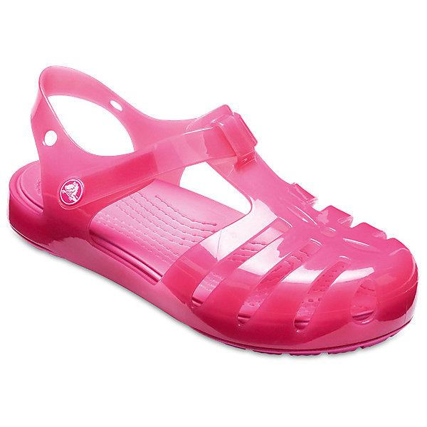 Сандалии  CROCS для девочкиСандалии<br>Характеристики товара:<br><br>• модель: Crocs Isabella Sandal PS<br>• цвет: розовый;<br>• состав: 100% полимер Croslite™;<br>• сезон: лето;<br>• температурный режим: от +20;<br>• модель: закрытые;<br>• застежка: ремешок на липучке;<br>• непромокаемые;<br>• рельефный рисунок подошвы;<br>• анатомические;<br>• светоотражающий логотип в области пятки;<br>• страна бренда: США<br><br>Прелестные сандалии от Crocs очаруют вашего ребенка с первого взгляда! Модель выполнена из полимера Croslite с красивым глянцевым эффектом. Такие сандалии принесут комфорт и радость вашему ребенку.<br><br>Благодаря материалу Croslite обувь невероятно легкая, мягкая и удобная. Материал Croslite™ - это патентованная пена с закрытыми ячейками, обладающая удивительными свойствами. Она присутствует в каждой паре обуви Crocs™, придавая ей характерную упругость, неповторимый комфорт и ощущение свободы.<br><br>Ремешок с застежкой-липучкой, оформленный фирменным логотипом, обеспечивает надежную фиксацию модели на ноге. Рифленое основание подошвы гарантирует идеальное сцепление с любой поверхностью. <br><br>Закрытые сандалии CROCS  (Крокс), розовые, можно купить в нашем интернет-магазине.<br>Ширина мм: 219; Глубина мм: 154; Высота мм: 121; Вес г: 343; Цвет: розовый; Возраст от месяцев: 12; Возраст до месяцев: 15; Пол: Женский; Возраст: Детский; Размер: 21,30/31,29/30,28/29,27/28,26,25,24,23,22; SKU: 7892609;