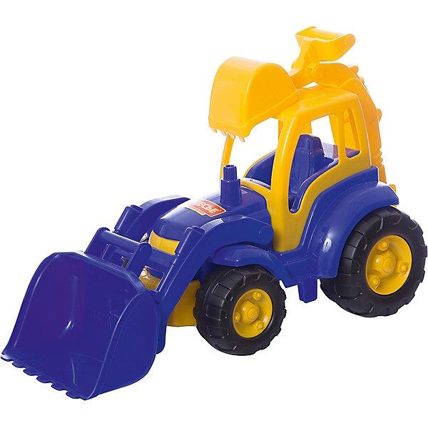 Купить Трактор с лопатой и ковшом Полесье Чемпион , синий, Беларусь, Мужской