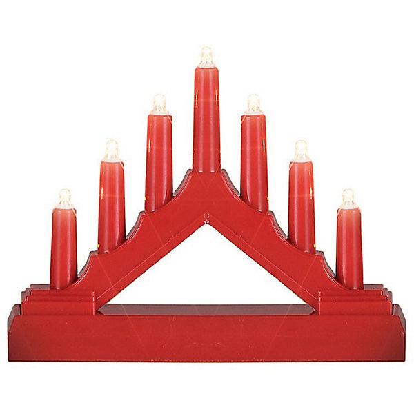 Декоративная фигурка-горка B&amp;H Свечи, 7 LED, краснаяНовогодние свечи и подсвечники<br>Характеристики товара:<br><br>• возраст: от 3 лет;<br>• упаковка: картонная коробка;<br>• размер украшения: 17х13х3,8 см.;<br>• вес: 140 гр.;<br>• тип лампочек: светодиоды;<br>• количество лампочек: 7;<br>• цвет диодов: теплый белый;<br>• состав: пластик, металл;<br>• бренд, страна изготовления: B&amp;H, Китай.<br><br>Светодиодное декоративное украшение «Горка» от торговой марки B&amp;H - оригинальное украшение в форме горки с 7 светодиодами внутри. <br><br>Украшение изготовлено из пластика высокого качества. Тип питания - от батареек 2хАА (не входят в комплект поставки). Применяется для украшения помещений, окон, витрин и других объектов, используется внутри помещений.<br><br>Светодиодное украшение «Горка» подарит уют и новогоднюю атмосферу вашему дому и станет прекрасным элементом декора. Отлично подойдет в качестве хорошего сувенира для друзей и близких.<br><br>Светодиодное украшение «Горка», B&amp;H  можно купить в нашем интернет-магазине.<br>Ширина мм: 135; Глубина мм: 44; Высота мм: 178; Вес г: 142; Цвет: красный; Возраст от месяцев: 36; Возраст до месяцев: 2147483647; Пол: Унисекс; Возраст: Детский; SKU: 7910281;