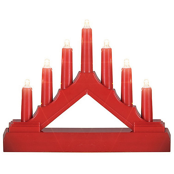 B&H Декоративная фигурка-горка Свечи, 7 LED, красная