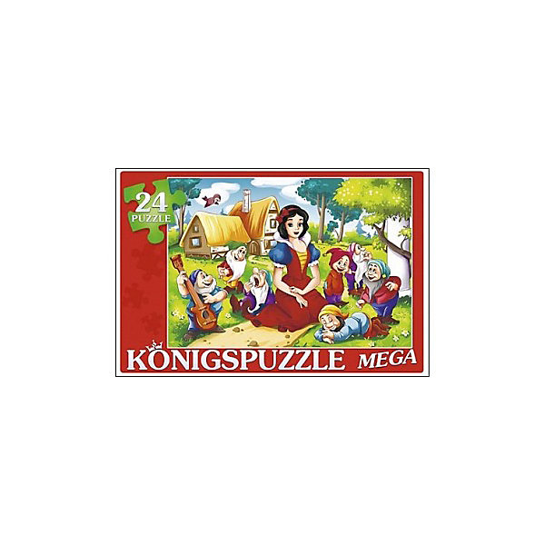Konigspuzzle Мега-пазл Konigspuzzle Белоснежка и семь гномов 24 элемента белоснежка и семь гномов