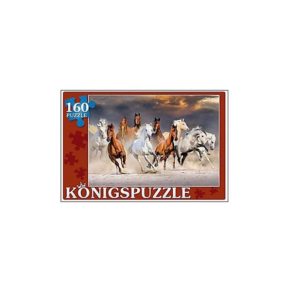Konigspuzzle Пазл Konigspuzzle Табун лошадей 160 элементов пазл konigspuzzle 1000 эл 68 5 48 5см табун лошадей кбк1000 6456