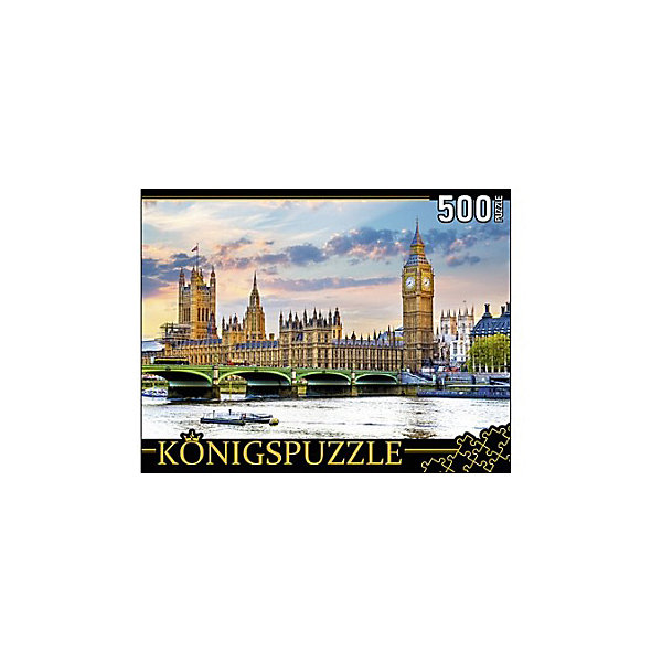 Konigspuzzle Пазл Konigspuzzle Лондон. Вестминстерский дворец и Биг-Бен 500 элементов konigspuzzle пазл konigspuzzle озеро на закате 500 элементов