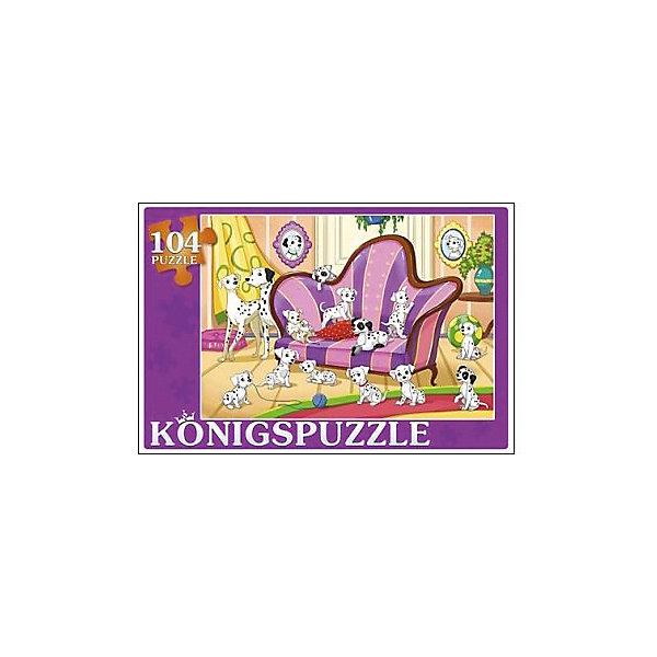 Konigspuzzle Пазл Konigspuzzle 101 далматинец 104 элемента диск dvd 101 далматинец м ф пл