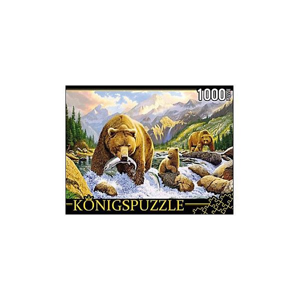Купить Пазл Konigspuzzle Медведи на рыбалке 1000 элементов, Россия, Унисекс