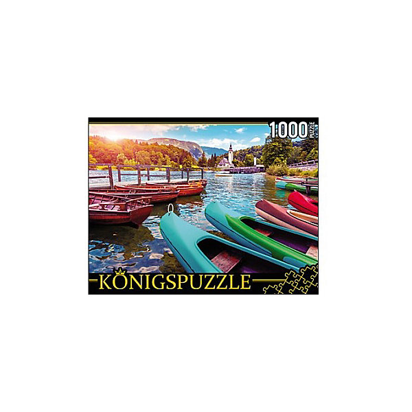 Konigspuzzle Пазл Konigspuzzle Лодки на горном озере 1000 элементов пазл konigspuzzle 1000 эл 68 5 48 5см яркая набережная и лодки алк1000 6483