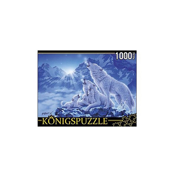 Konigspuzzle Пазл Волки и ночные горы 1000 элементов