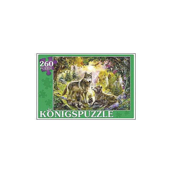 Konigspuzzle Пазл Konigspuzzle Семья волков 260 элементов пазл семья волков в лесу 500 шт