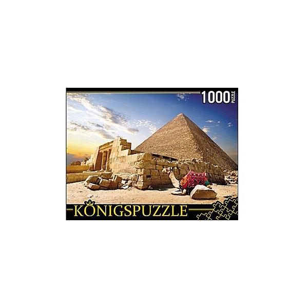 Konigspuzzle Пазл Konigspuzzle Египет. Пирамиды и верблюды 1000 элементов пазл konigspuzzle 1000 эл 68 5 48 5см яркая набережная и лодки алк1000 6483