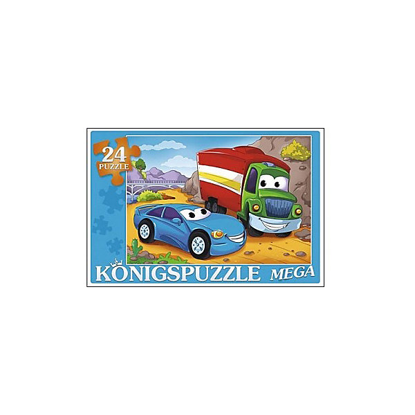Konigspuzzle Мега-пазл Весёлый транспорт 24 элемента