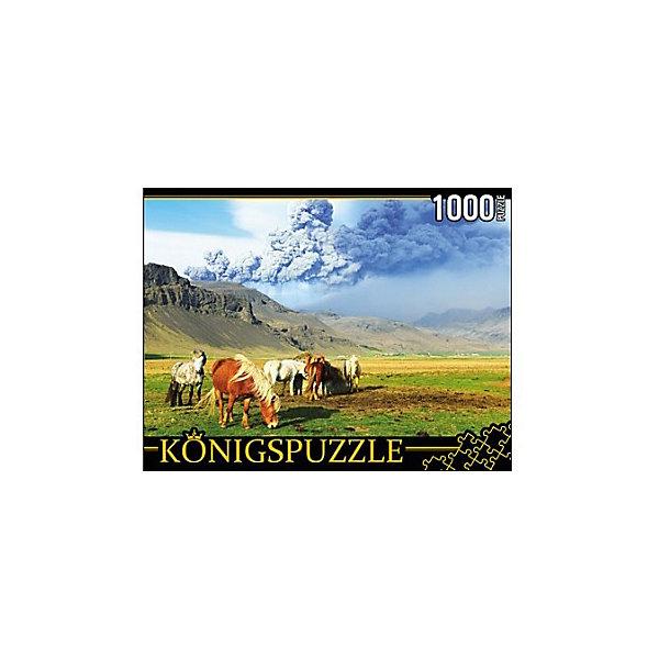 Konigspuzzle Пазл Konigspuzzle Лошади и вулкан 1000 элементов пазл konigspuzzle 1000 эл 68 5 48 5см яркая набережная и лодки алк1000 6483