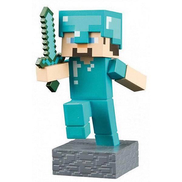Фигурка Minecraft Adventure Steve 10смКоллекционные фигурки<br>Характеристики товара:<br><br>• возраст: от 3 лет<br>• размер: 10 см<br>• материал: пластик<br>• герой из видеоигры Minecraft<br>• размер упаковки: 12х6х6 см<br><br>Серия игрушек, созданная по мотивам игры Майнкрафт (Minecraft).Фигурка  из пластика высотой 10 см. Несмотря на миниатюрность, фигурка тщательно детализирована, У Стива подвижные руки и голова. <br><br>Как и все фигурки серии,  Стив выполнен по лицензии и потому имеет максимальную схожесть с оригинальным персонажем, а также подходит для дополнения коллекции других фигурок серии.<br><br>Фигурку Minecraft Adventure Steve 10см можно купить в нашем интернет-магазине.<br>Ширина мм: 120; Глубина мм: 50; Высота мм: 150; Вес г: 150; Возраст от месяцев: 72; Возраст до месяцев: 2147483647; Пол: Мужской; Возраст: Детский; SKU: 7911582;