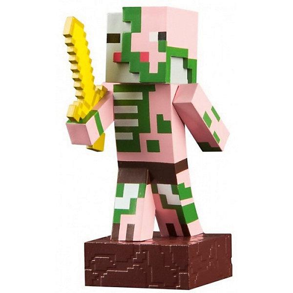 Фигурка Minecraft Adventure Zombie Pigman 10смКоллекционные фигурки<br>Характеристики товара:<br><br>• возраст: от 3 лет<br>• размер: 10 см<br>• материал: пластик<br>• герой из видеоигры Minecraft<br>• размер упаковки: 12х6х6 см<br><br>Как известно, в игре Зомби (Zombie Pigman) собираются в группы по четыре. Но при встрече и один впечатляет! Заботливо выполненная из пластика фигурка высотой 10 см способна двигаться в основных узлах и готова присоединиться к остальным персонажам. <br><br>В комплекте с Зомби оружие и кубик руды. Как и остальные фигурки серии, Зомби выполнен по лицензии и потому имеет максимальную схожесть с оригинальным персонажем. Серия игрушек, создана по мотивам игры Майнкрафт (Minecraft).<br><br>Фигурку Minecraft Adventure Zombie Pigman 10см можно купить в нашем интернет-магазине.<br>Ширина мм: 120; Глубина мм: 50; Высота мм: 150; Вес г: 150; Возраст от месяцев: 72; Возраст до месяцев: 2147483647; Пол: Мужской; Возраст: Детский; SKU: 7911590;
