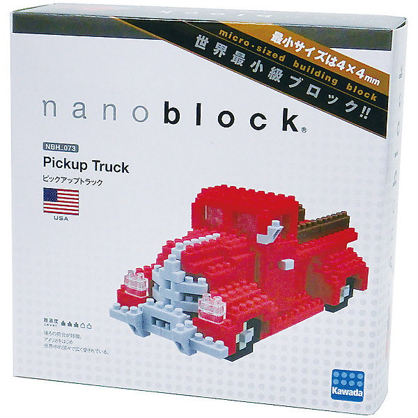 Конструктор Nanoblock Ретро ПикапПластмассовые конструкторы<br>Характеристики:<br><br>• возраст: от 12 лет;<br>• материал: пластик;<br>• время сборки: 45 минут;<br>• в наборе: 320 деталей, запасные детали, инструкция-схема сборки;<br>• вес упаковки: 300 гр.;<br>• размер игрушки: 4,5х5х10,5 см;<br>• размер упаковки: 4,5х14х14 см;<br>• страна бренда: Япония, США.<br><br>Конструктор Nanoblock «Ретро Пикап» представляет собой сборную копию автомобиля Chevrolet 3100 1937 года США. Машина собирается в классический пикап красного цвета.<br><br>Соединяясь, детали конструктора напоминают модную пиксельную картинку. Модель подойдет для игры или станет отличным дополнением коллекции. Сделано из прочного безопасного пластика, отвечающего высшим требованиям качества.<br><br>Конструктор Nanoblock «Ретро Пикап» можно купить в нашем интернет-магазине.<br>Ширина мм: 45; Глубина мм: 140; Высота мм: 140; Вес г: 300; Возраст от месяцев: 144; Возраст до месяцев: 2147483647; Пол: Унисекс; Возраст: Детский; SKU: 7911626;