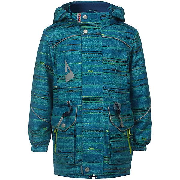 Куртка Фроуд OLDOS ACTIVE для мальчикаВерхняя одежда<br>Характеристики товара:<br><br>• цвет: синий;<br>• внешняя ткань: 100% полиэстер, покрытие TEFLON, мембрана; <br>• подкладка: флис, 100% полиэстер;<br>• сезон: демисезон;<br>• температурный режим: от +10 до +20;<br>• водонепроницаемость: 3000 мм ;<br>• паропроницаемость: 3000 г/м2/24ч;<br>• застежка: на молнии;<br>• двойная ветрозащитная планка по всей длине молнии с защитой подбородка<br>• съемный капюшон, внутренняя резинка по краям для лучшего прилегания<br>• воротник-стойка с мягкой флисовой подкладкой<br>• резинка сзади по талии <br>• манжеты на резинке регулируемые липучкой<br>• 2 накладных кармана на кнопках снизу и на 2 кармана молнии вверху, внутренний карман на липучке<br>• нашивка-потеряшка<br>• светоотражающие элементы<br>• страна бренда: Россия.<br><br>Утепленная куртка-парка «Фроуд» для мальчика из мембранной коллекции Росийсского производителя OLDOS ACTIVE - отличный вариант для активных прогулок в межсезонье.  Выполнена в оригинальном цвете с эффектом джинсы, дополнена контрастной молнией и нашивками, хорошо сидит по фигуре и сочетается с различной одеждой и обувью.<br><br>Верхняя ткань с мембраной 3000/3000 обеспечивает водонепроницаемость, при этом ветровка дышит. Покрытие TEFLON повышает износостойкость, а так же облегчает уход за ветровкой. Подкладка - флис, в области груди и спины, плотный полиэстер в рукавах. <br><br>Такая ветровка прекрасно защитит от непогоды благодаря продуманному функционалу: капюшону с внутренней резинкой по краям для лучшего прилегания, ветрозащитной планке по всей длине молнии с защитой подбородка, манжетам на резинке с клином, который регулируется липучкой и внешней регулировке по талии. Ветровка оснащена карманами на молнии и светоотражающими элементами. Внутри куртки есть потайной карман, который застегивается на липучку и нашивка-потеряшка. <br><br>Утепленную куртку-парку для мальчика «Фроуд» от бренда OLDOS ACTIVE (Олдос Актив) можно купить в нашем интернет-мага