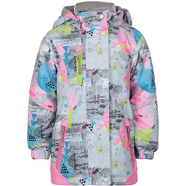 Куртка Сафира OLDOS ACTIVE для девочкиВерхняя одежда<br>Характеристики товара:<br><br>• цвет: серый/принт;<br>• внешняя ткань: 100% полиэстер, покрытие TEFLON, мембрана; <br>• подкладка: флис, 100% полиэстер;<br>• сезон: демисезон;<br>• температурный режим: от +10 до +20;<br>• водонепроницаемость: 3000 мм ;<br>• паропроницаемость: 3000 г/м2/24ч;<br>• застежка: на молнии;<br>• двойная ветрозащитная планка по всей длине молнии с защитой подбородка<br>• съемный капюшон, внутренняя резинка по краям для лучшего прилегания<br>• воротник-стойка с мягкой флисовой подкладкой<br>• резинка сзади по талии <br>• манжеты на резинке регулируемые липучкой<br>• 2 накладных кармана на кнопках снизу и на 2 кармана молнии вверху, внутренний карман на липучке<br>• нашивка-потеряшка<br>• светоотражающие элементы<br>• страна бренда: Россия.<br><br>Утепленная куртка-парка «Сафира» для девочки из мембранной коллекции Росийсского производителя OLDOS ACTIVE - отличный вариант для активных прогулок в межсезонье.  Выполнена в красивой комбинации цветов с веселым контрастным принтом, хорошо сидит по фигуре и сочетается с различной одеждой и обувью.<br><br>Верхняя ткань с мембраной 3000/3000 обеспечивает водонепроницаемость, при этом ветровка дышит. Покрытие TEFLON повышает износостойкость, а так же облегчает уход за ветровкой. Подкладка - флис, в области груди и спины, плотный полиэстер в рукавах. <br><br>Такая ветровка прекрасно защитит от непогоды благодаря продуманному функционалу: капюшону с внутренней резинкой по краям для лучшего прилегания, ветрозащитной планке по всей длине молнии с защитой подбородка, манжетам на резинке с клином, который регулируется липучкой и внешней регулировке по талии. Ветровка оснащена карманами на молнии и светоотражающими элементами. Внутри куртки есть потайной карман, который застегивается на липучку и нашивка-потеряшка. <br><br>Утепленную куртку-парку «Сафира» для девочки  от бренда OLDOS ACTIVE (Олдос Актив) можно купить в нашем интернет-магазине.<br>Ширина 