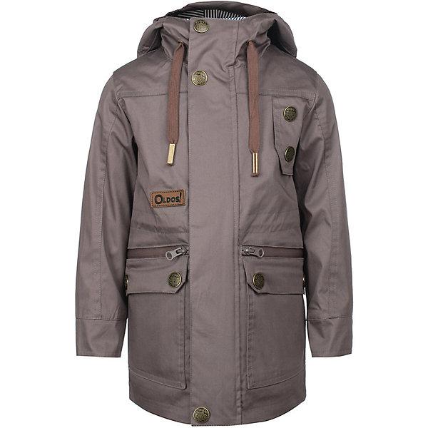Куртка Конн OLDOS для мальчикаВерхняя одежда<br>Характеристики товара:<br><br>• цвет: серый;<br>• внешняя ткань: 100% полиэстер, пропитки PU+WR; <br>• подкладка: принтованная бязь (65% п/э, 35% х/б);<br>• сезон: демисезон;<br>• температурный режим: от +10 до +20;<br>• застежка: на молнии, на кнопках, на липучках;<br>• не съемный капюшон, с утяжкой на шнурке;<br>• внутренняя ветрозащитная планка с защитой подбородка от прищемления;<br>• регулируемая талия;<br>• манжеты на кнопках;<br>• врезные карманы на молнии;<br>• нашивка-потеряшка;<br>• светоотражающие элементы;<br>• страна бренда: Россия.<br><br>Модная и стильная ветровка «Конн» для мальчика от OLDOS с водо- и грязеотталкивающими пропитками - прекрасное дополнение к любому гардеробу! Идеальна для ношения в прохладные весенние деньки. Выполнена в практичном цвете с принтовыми нашивками, хорошо сидит по фигуре и сочетается с различной одеждой и обувью.<br><br>Внешняя ткань с водо-грязеотталкивающей пропиткой защищает от ветра и дождя. По талии есть внутренняя регулировка. В этой модели два типа карманов: накладные карманы с клапаном на кнопке и врезные карманы на молнии. Контрастная подкладка из бязи приятна на ощупь, что придаёт дополнительный комфорт. Снабжена светоотражающими элементами. <br><br>Куртку-ветровку для мальчика «Конн» от бренда OLDOS (Олдос) можно купить в нашем интернет-магазине.<br>Ширина мм: 356; Глубина мм: 10; Высота мм: 245; Вес г: 519; Цвет: серый; Возраст от месяцев: 24; Возраст до месяцев: 36; Пол: Мужской; Возраст: Детский; Размер: 98,140,134,128,122,116,110,104; SKU: 7913499;