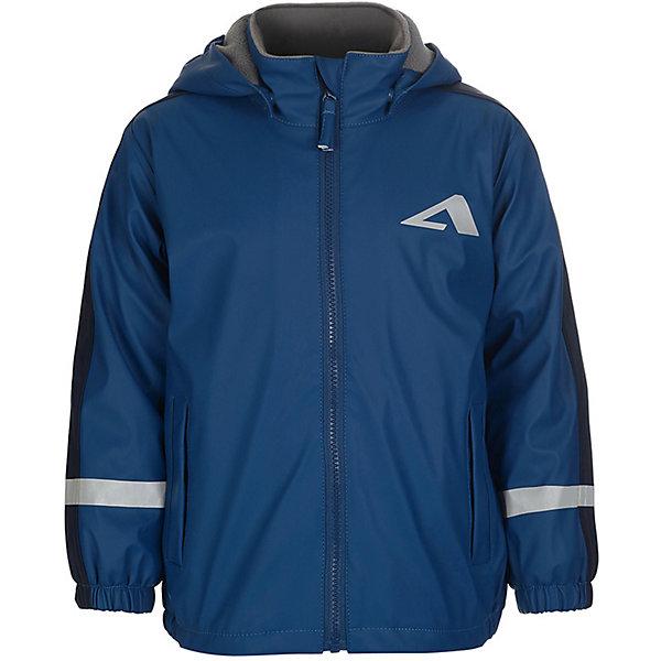 Непромокаемая куртка Бостон OLDOS ACTIVE для мальчикаВерхняя одежда<br>Характеристики товара:<br><br>• цвет: синий;<br>• внешняя ткань: 100% полиэстер на трикотажной основе, полиуретановое покрытие;<br>• подкладка: флис, 100% полиэстер;<br>• сезон: демисезон;<br>• температурный режим: от +10 до +20;<br>• застежка: на молнии;<br>• воротник-стойка;<br>• съемный капюшон, внутренняя резинка по краям для лучшего прилегания<br>• воротник-стойка с мягкой флисовой подкладкой<br>• резинка сзади по талии<br>• манжеты на резинке<br>• врезные карманы на молнии<br>• нашивка-потеряшка<br>• светоотражающие элементы<br>• страна бренда: Россия.<br><br>Параметры изделия:<br>• объем груди: 86 см<br>• длина изделия: 49,5 см<br>• длина рукава с учетом плеча: 54,5 см<br>• высота капюшона: 28 см<br>• глубина капюшона: 22 см <br><br>Куртка-дождевик «Бостон» для мальчика от Росийсского производителя OLDOS ACTIVE. Куртка прекрасно защитит от дождя во время прогулок благодаря продуманному функционалу: съемному капюшону, ветрозащитной планке по всей длине молнии, воротнику-стойке с мягкой флисовой подкладкой, манжетам на резинке, резинке по низу куртки. В куртке есть карманы и светоотражающие элементы.<br><br>Внешняя ткань 100% полиэстер на трикотажной основе, полиуретановое покрытие без ПВХ. Материал мягкий, водонепроницаемый и грязеотталкивающий, не деревенеет на морозе. Швы запаяны. Подкладка - флис. Все материалы высокого качества, износостойкие и безведные для детского здоровья.<br><br>Куртку-дождевик «Бостон» для мальчика от бренда OLDOS ACTIVE (Олдос Актив) можно купить в нашем интернет-магазине.