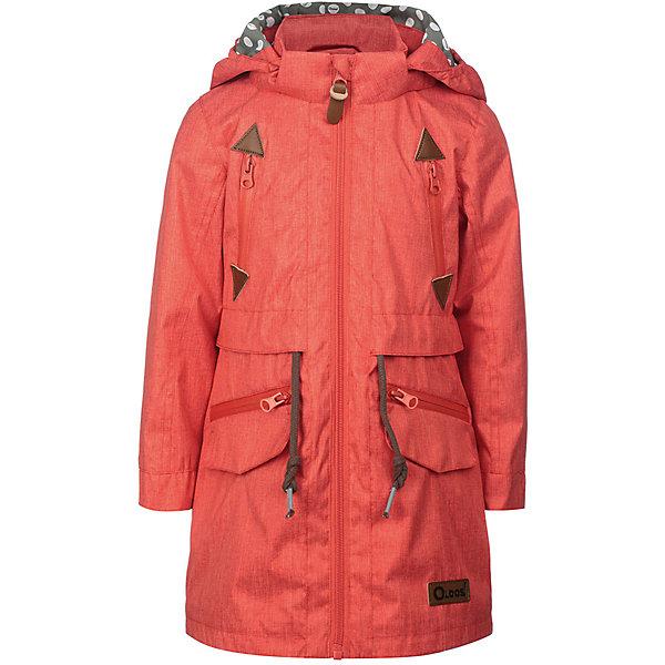 Куртка Лоли OLDOS для девочкиВерхняя одежда<br>Характеристики товара:<br><br>• цвет: розовый;<br>• внешняя ткань: 100% полиэстер, пропитки PU+WR; <br>• подкладка: принтованная бязь (65% п/э, 35% х/б);<br>• сезон: демисезон;<br>• температурный режим: от +10 до +20;<br>• застежка: на молнии, на кнопках, на липучках;<br>• не съемный капюшон, с утяжкой на шнурке;<br>• внутренняя ветрозащитная планка с защитой подбородка от прищемления;<br>• регулируемая талия;<br>• манжеты на кнопках;<br>• врезные карманы на молнии;<br>• нашивка-потеряшка;<br>• светоотражающие элементы;<br>• страна бренда: Россия.<br><br>Модная и стильная ветровка «Лоли» для девочки от OLDOS  - прекрасное дополнение к любому гардеробу! Идеальна для ношения в прохладные весенние деньки. Выполнена в практичном цвете с принтовыми нашивками, хорошо сидит по фигуре и сочетается с различной одеждой и обувью.<br><br>Внешняя ткань с водо-грязеотталкивающей пропиткой защищает от ветра и дождя. Съемный капюшон, внутренняя резинка по краям для лучшего прилегания, ветрозащитная планка по всей длине молнии с защитой подбородка, регулируемая утяжка по талии на х/б шнур, карманы на молнии с декоративным клапаном, манжеты на кнопке. Контрастная подкладка из бязи приятна на ощупь, что придаёт дополнительный комфорт. Снабжена светоотражающими элементами. <br><br>Куртку-ветровку «Лоли» для девочки от бренда OLDOS (Олдос) можно купить в нашем интернет-магазине.