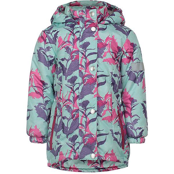 Купить Демисезонная куртка JICCO BY OLDOS Цветы, Россия, фиолетовый, 92, 128, 122, 116, 110, 104, 98, Женский