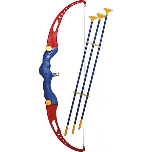 Игрушечный лук со стрелами Mission-Target ОхотникИгрушечные арбалеты и луки<br>Характеристики:<br><br>• тип игрушки: лук;<br>• возраст: от 6 лет;<br>• материал: пластик;<br>• комплектация: лук, 3 стрелы, мишень;<br>• цвет: синий, красный;<br>• вес: 354 гр;<br>• размер: 20х4,5х65 см;<br>• бренд: Mission Target.<br><br>Игрушечный лук со стрелами Mission-Target «Охотник» надолго станет любимой игрой ребенка, за которой будет проведено множество дней. Ведь это игра на меткость, в которую очень интересно играть с друзьями. Можно устроить супер турнир по стрельбе по мишеням и выявить лучшего. Игрушечный лук со стрелами  стреляет безопасными стрелами на присосках и имеет прочную конструкцию. Малыш также сможет развить воображение, глазомер и креативность.<br><br>Игрушечный лук со стрелами Mission-Target «Охотник» можно купить в нашем интернет-магазине.<br>Ширина мм: 200; Глубина мм: 45; Высота мм: 650; Вес г: 354; Цвет: синий/красный; Возраст от месяцев: 60; Возраст до месяцев: 168; Пол: Мужской; Возраст: Детский; SKU: 7920660;