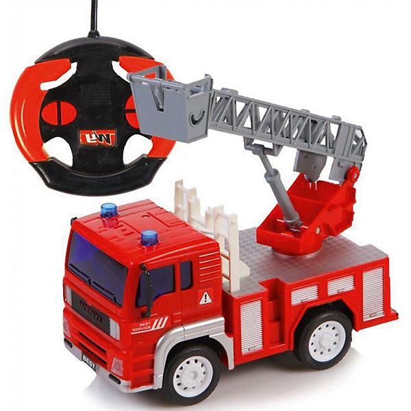 Пожарная машинка Big motors  на радиоуправленииМашинки<br>Характеристики:<br><br>• тип игрушки: машина;<br>• возраст: от 3 лет;<br>• материал: пластик, металл;<br>• тип батареек: 2 x AA / LR6 1.5V ;<br>• наличие батареек: входят в комплект;<br>• длина машинки: 36 см;<br>• цвет:  красный;<br>• вес: 520 гр;<br>• размер: 30х13,5х16,5 см;<br>• страна бренда: Германия;<br>• бренд: Dickie.<br><br>Пожарная машинка Big motors  на радиоуправлении станет достойным дополнением к автоколлекции ребенка. Игрушка имеет очень приятный дизайн, а также порадует своего обладателя качеством. У Fire Dept имеются функции световых и звуковых эффектов, которые привнесут в игровой процесс реализма и сделают его ярче и интереснее.<br><br>Еще одной интересной особенностью игрушки является то, что в специальный отсек можно набрать воду и поливать из шланга участки игрового поля, на котором появилось возгорание. Эта функция делает данную модель максимально похожей на реальную пожарную машину. Fire Dept легко сможет стать любимой игрушкой ребенка.<br><br>Пожарную машинку Big motors  на радиоуправлении можно купить в нашем интернет-магазине.<br>Ширина мм: 300; Глубина мм: 135; Высота мм: 165; Вес г: 520; Цвет: красный; Возраст от месяцев: 60; Возраст до месяцев: 120; Пол: Мужской; Возраст: Детский; SKU: 7920662;