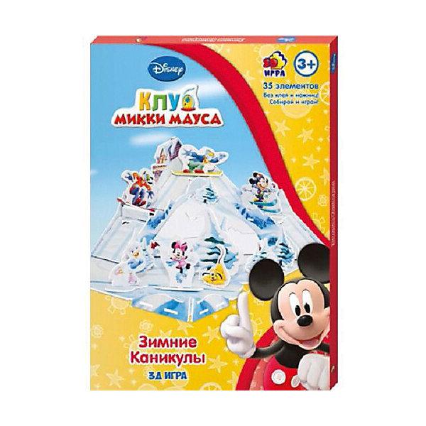 Игра настольно-печатная Disney Зимние каникулыМикки Маус и друзья<br>Характеристики:<br><br>• тип игрушки: настольная игра;<br>• возраст: от 3 лет;<br>• материал: пластик;<br>• комплектация: 35 деталей;<br>• вес: 160 гр;<br>• размер: 1,4х20,8х29 см;<br>• бренд: Disney.<br><br>Игра настольно-печатная Disney «Зимние каникулы» создана по мотивам знаменитого мультфильма «Микки Маус и его друзья». Игроку надо собрать для Микки Мауса и его друзей заснеженные горы и каток. Весело катайтесь на лыжах, коньках и скейтбордах.  Количество элементов – 35 штук.<br><br>Игру настольно-печатню Disney «Зимние каникулы» можно купить в нашем интернет-магазине.<br>Ширина мм: 14; Глубина мм: 208; Высота мм: 290; Вес г: 160; Возраст от месяцев: 36; Возраст до месяцев: 84; Пол: Унисекс; Возраст: Детский; SKU: 7920698;