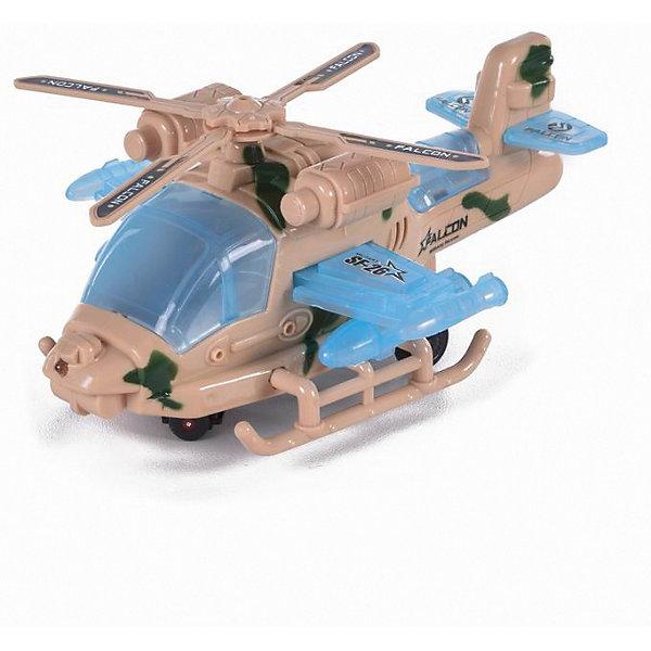 Вертолет Yako Toys Falcon Super Power свет, звукСамолёты и вертолёты<br>Характеристики:<br><br>• тип игрушки: вертолет;<br>• возраст: от 3 лет;<br>• материал: пластик, металл;<br>• наличие батареек: в комплект не входят; <br>• цвет: светлый; <br>• вес: 281 гр;<br>• размер: 24х13х8 см;<br>• бренд: Yako.<br><br>Вертолет Yako может понравиться любителям воздушной техники, а также тем, кто увлекается военными транспортными средствами. Вертолет выполнен в весьма реалистичной форме, оснащен лопастями, хвостовой частью, а также кабиной пилота. Игрушка работает на батарейках, благодаря чему можно приводить в движение лопасти или включать свет вертолета. С таким транспортным средством можно затевать занимательные игры на военную тематику.<br><br>Вертолет Yako можно купить в нашем интернет-магазине.<br>Ширина мм: 240; Глубина мм: 130; Высота мм: 80; Вес г: 281; Цвет: белый; Возраст от месяцев: 36; Возраст до месяцев: 6; Пол: Мужской; Возраст: Детский; SKU: 7920746;