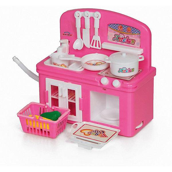 Кухня Yako Toys, с аксессуарамиДетские кухни<br>Характеристики:<br><br>• тип игрушки: бытовая техника;<br>• возраст: от 3 лет;<br>• материал: пластик;<br>• цвет: розовый; <br>• тип батареек: 2хАА 1,5V;<br>• наличие батареек: в комплект не входят;<br>• вес: 577 гр;<br>• размер:9х23х27 см;<br>• бренд: Yako.<br><br>Бытовая техника Yako стимулирует воображение, способствует интеллектуальному развитию и разрабатывает мелкую моторику. Такие замечательные игрушки позволяют детям освоить домашнюю работу через игру, все предметы выглядят крайне реалистично. В данном наборе идут мини-кухня с мойкой и краном, плита с духовым шкафом и множество посуды. Посуда: кастрюля, сковорода, ковш, набор лопаток, корзина с кукурузой и перцем. Ваша дочка будет с удовольствием готовить обеды и  угощать всю семью! Есть световые и звуковые эффекты. Все изделия полностью безопасны, сделаны из прочного и экологичного пластика.<br><br>Бытовая техника Yako можно купить в нашем интернет-магазине.<br>Ширина мм: 90; Глубина мм: 230; Высота мм: 270; Вес г: 577; Цвет: розовый/розовый; Возраст от месяцев: 36; Возраст до месяцев: 6; Пол: Женский; Возраст: Детский; SKU: 7920764;