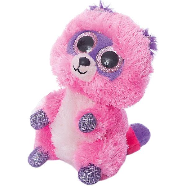 TEDDY Мягкая игрушка Teddy Енотик розовый, 15 см