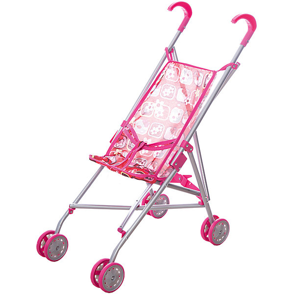 Коляска-трость для кукол Карапуз, розовая, Розовый