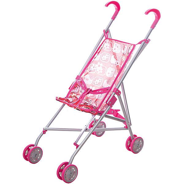 Карапуз Коляска-трость для кукол Карапуз, розовая