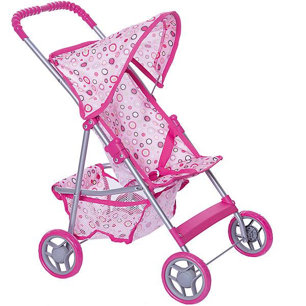 Карапуз Коляска для кукол с корзиной, розовая