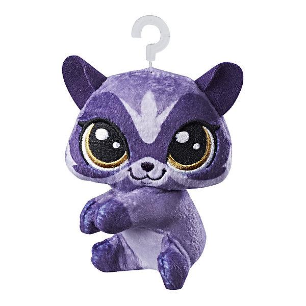 Hasbro Мягкая игрушка-прилипала Little Pet Shop, Енот littlest pet shop мягкая игрушка зверушка пенни цвет сиреневый 20 см