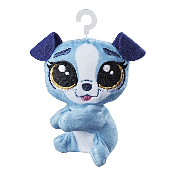 Hasbro Мягкая игрушка-прилипала Little Pet Shop, Собачка lps pet shop toys rare black little cat blue eyes animal models patrulla canina action figures kids toys gift cat free shipping
