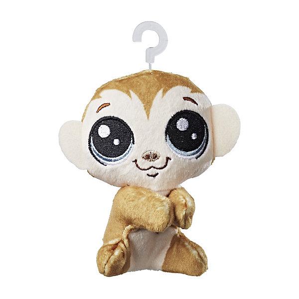 Hasbro Мягкая игрушка-прилипала Little Pet Shop, Обезьянка littlest pet shop мягкая игрушка зверушка пенни цвет сиреневый 20 см