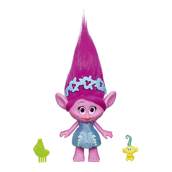 Hasbro Фигурка Троллиc заколочками для волос, Поппи биокрин для волос купить